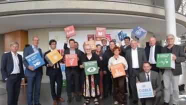 Impressionsfilm zur gemeinsamen Aktion des RNE und des Parlamentarischen Beirats für nachhaltige Entwicklung (PBnE) zu den Deutschen Aktionstagen Nachhaltigkeit am 31.05.2017 im Deutschen Bundestag in Berlin - Foto: Bettina Ausserhofer, © RNE