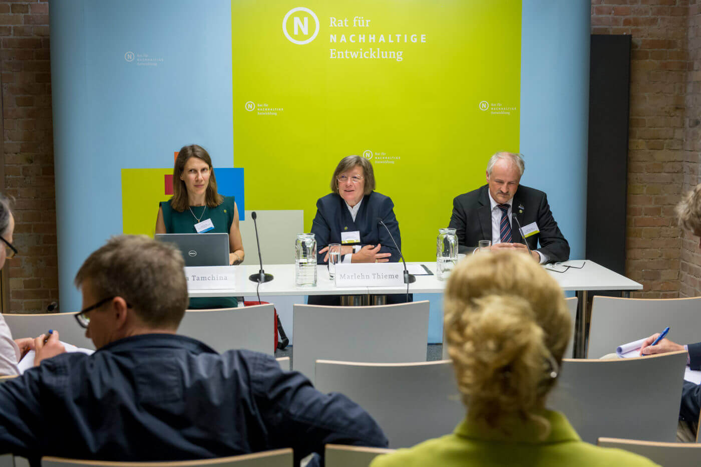 Press conference at the 2016 RNE Annual Conference. Photo: Svea Pietschmann, © German Council for Sustainable Development