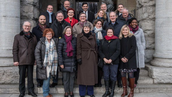 The group of international experts and RNE Council members at their meeting from February, 26 to March, 2nd 2018 in Berlin - Photo: Ralf Rühmeier, © German Council for Sustainable Development (RNE)
