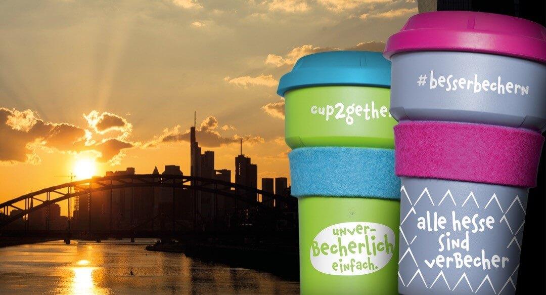 """Die Initiative """"Cup2gether"""" ist ein Mehrwegpfand-System für Kaffeebecher in Frankfurt a.M., Foto: © Lust auf besser Leben e.V."""
