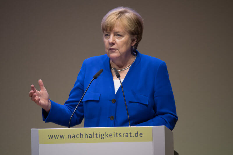 Chancellor Angela Merkel at the RNE Annual Conference on 4 June 2018. Photo: Ralf Rühmeier, © German Council for Sustainable Development