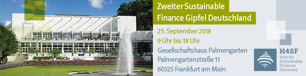 Zweiter Sustainable Finance Gipfel Deutschland am 25.09.2018 in Frankfurt am Main
