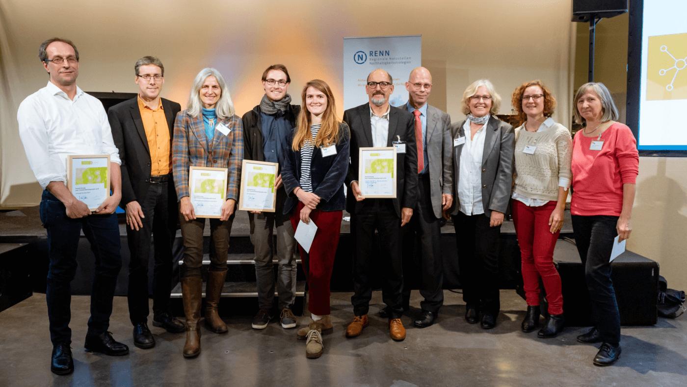 """Auszeichnung """"Transformationsprojekte 2018"""" auf den RENN.tagen 2018 im Rahmen des Wettbewerbs """"Projekt Nachhaltigkeit 2018"""", Foto: Svea Pietschmann, © Rat für Nachhaltige Entwicklung (RNE)"""