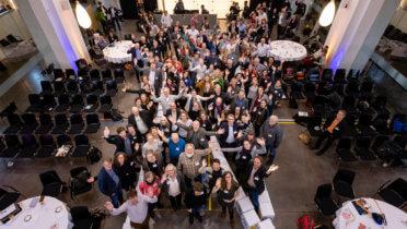 Teilnehmerinnen und Teilnehmer der Jahrestagung der Regionalen Netzstellen Nachhaltigkeitsstrategien (RENN) am 13. und 14.11.2018 in Berlin - Foto: Svea Pietschmann, © Rat für Nachhaltige Entwicklung