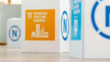 Nachhaltige Städte und Gemeinden - Eines der globalen Nachhaltigkeitsziele (SDGs), die in der 2015 verabschiedeten Agenda 2030 der Vereinten Nationen formuliert wurden. - Foto: Svea Pietschmann, © Rat für Nachhaltige Entwicklung