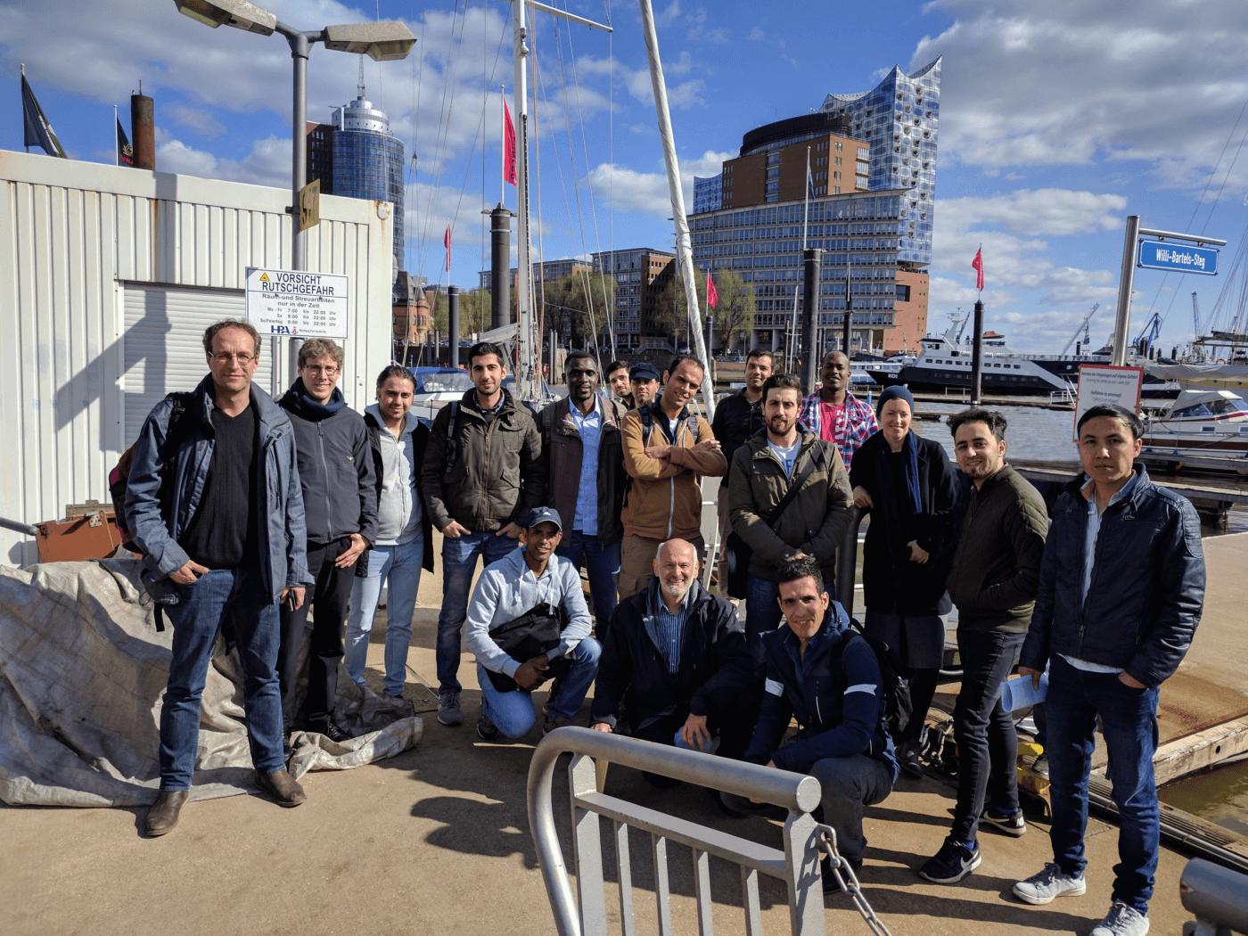 """Teilnehmende und Projektleitung des Projekts """"Umwelthandwerker"""" der Handwerkskammer Hamburg, Foto: © Handwerkskammer Hamburg"""