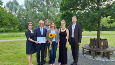 Das DNK-Team zu Besuch beim 500. Anwenderunternehmen Concordia Versicherungen in Hannover. Foto: Annica Bergfeld © Concordia Versicherungen