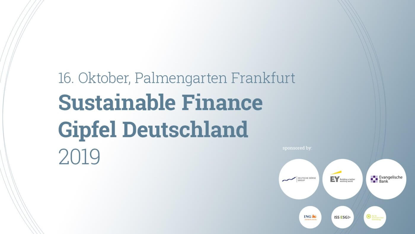 Der RNE war Partner des Dritten Sustainable Finance Gipfels am 16. Oktober 2019