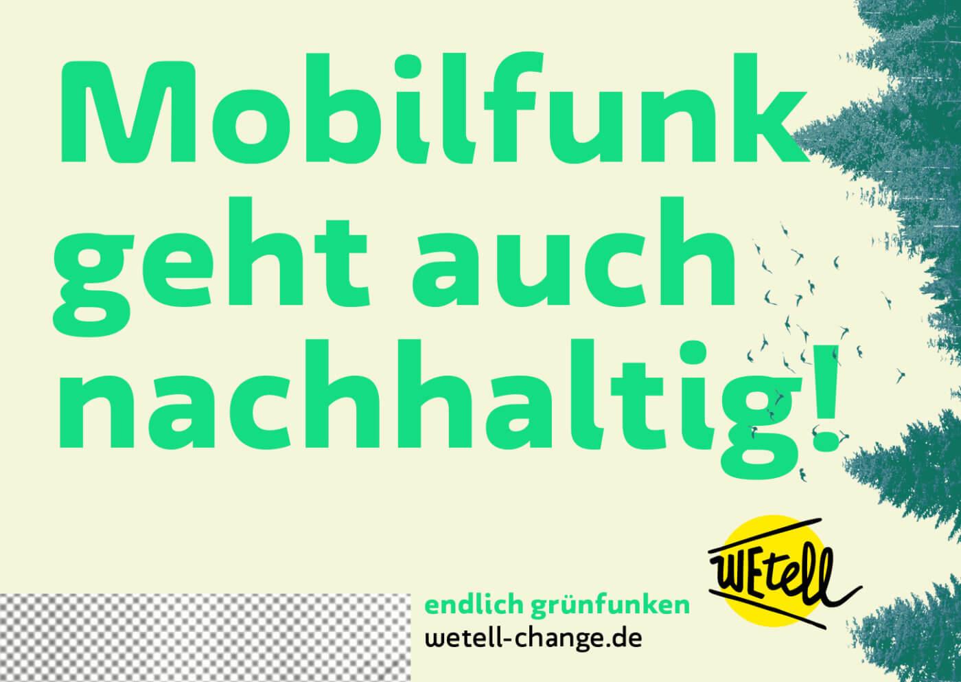 Der Mobilfunkanbieter WEtell will Mobilfunk nachhaltig machen – und wurde als Transformationsprojekt 2019 ausgezeichnet. Bild: © WEtell