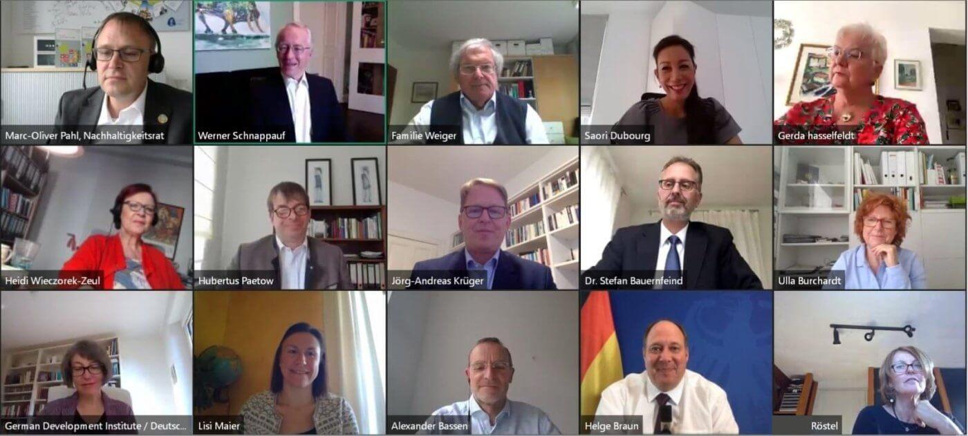 Videokonferenz der Ratsmitglieder mit Bundesminister Prof. Dr. Helge Braun am 18.05.20. Foto: RNE