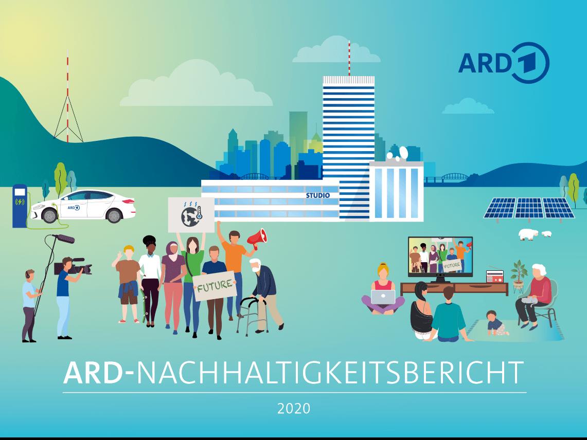 Der ARD-Nachhaltigkeitsbericht 2020 mit Entsprechungserklärung des Deutschen Nachhaltigkeitskodex. Foto: Screenshot ARD