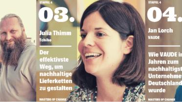Drei Episoden aus der neuen Staffel des 'Masters of Change'-Podcasts sind in Zusammenarbeit mit dem RNE entstanden und ergänzen dessen Studie zum Stand nachhaltigen Wirtschaftens in Deutschland. Foto: © Masters of Change