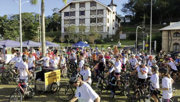 Stadtradeln in Brusque: Eine von vielzähligen Aktionen, um Menschen für nachhaltige Mobilität zu begeistern. Foto: © Ana Paula Bonatelli
