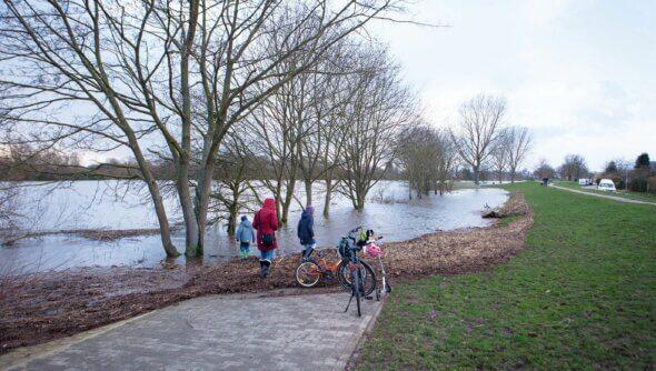 Im Naherholungsgebiet Pauliner Marsch in Bremen ist eine Hochwasserrisikovorsorge dringend nötig. Foto: © BREsilient, ecolo – Agentur für Ökologie und Kommunikation